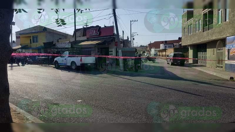 Asesinan a un comerciante en Jacona