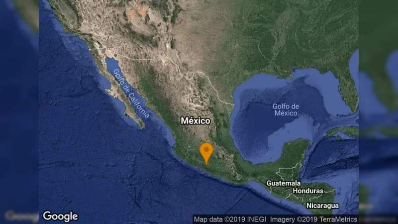 Se registra sismo de 5.0 en Ciudad Altamirano, Guerrero