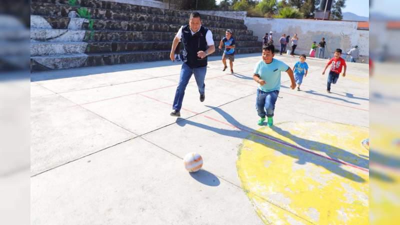 Rescata Sedesoh espacios educativos en Morelia