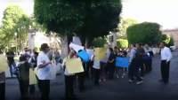 Transportistas se suman a protesta de los empleados del Hotel Virrey de Mendoza