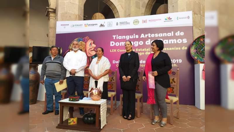 Una bolsa de un millón 50 mil pesos se otorgarán a ganadores del LIX Concurso Estatal de Artesanías de Uruapan
