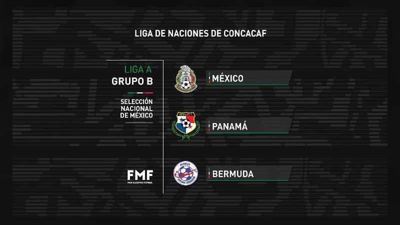 La Selección Mexicana ya conoce a sus rivales de la Nations League