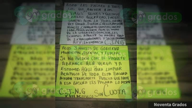 Dejan rostro desollado y narcomensajes en Acapulco, Guerrero