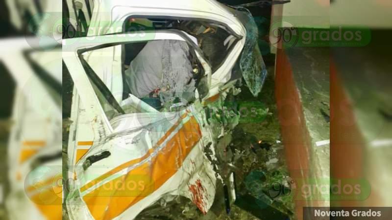 Trágico accidente deja un muerto en Morelia, Michoacán