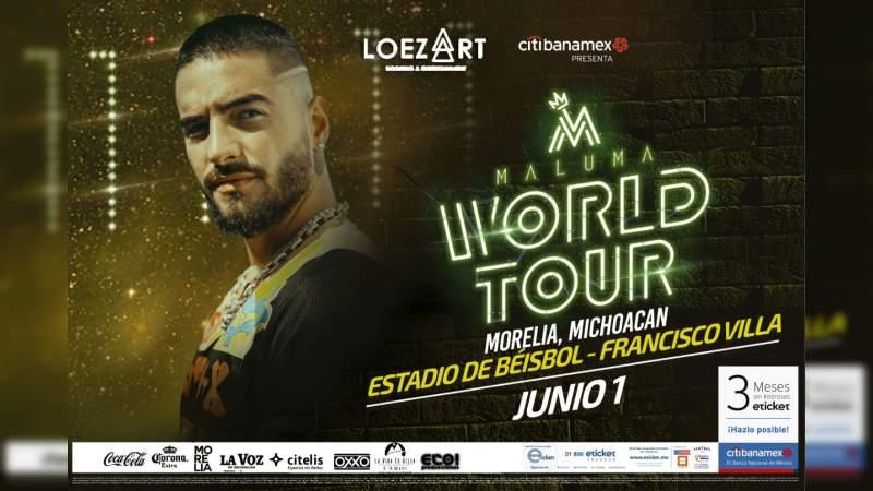 "El ""World Tour"" de Maluma llega a Morelia en junio"