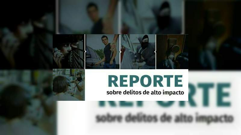 """""""Informe de delitos en México"""" Actualizado al 2 de abril"""