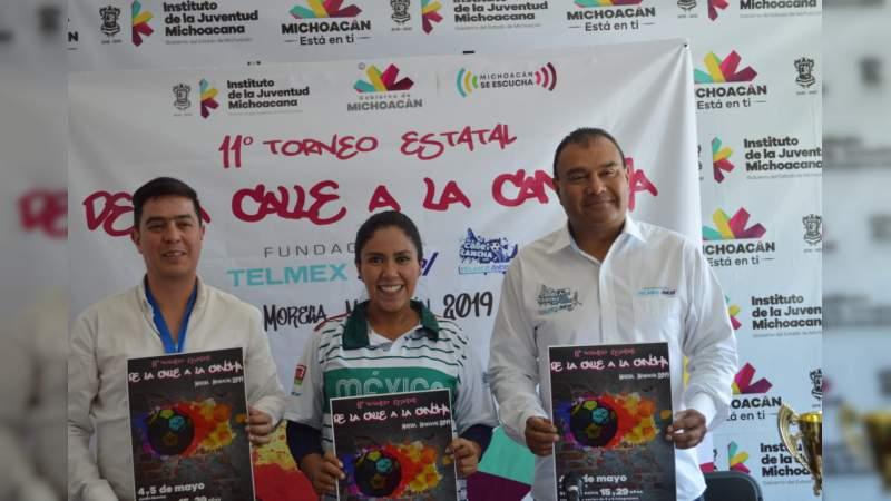 """Invitan a jóvenes a participar en el 11° Torneo Estatal """"De la Calle a la Cancha con Telmex-Telcel 2019"""""""