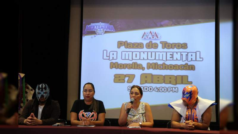 Lucha Libre con causa por el turismo social, en Morelia