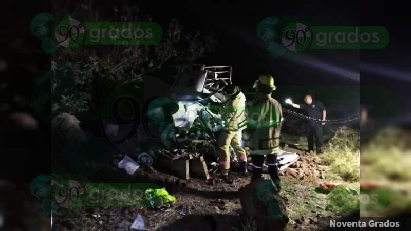 Fatal accidente, mueren seis trabajadores en La Piedad, Michoacán