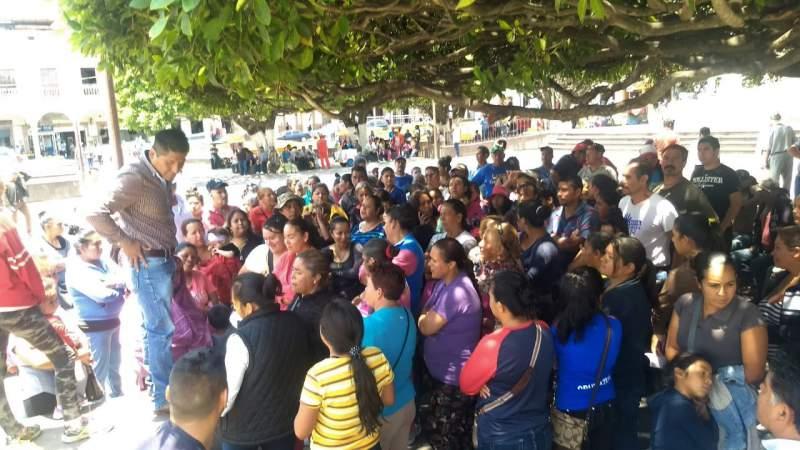 Autoridades del municipio de Hidalgo se comprometen a atender demandas antorchistas