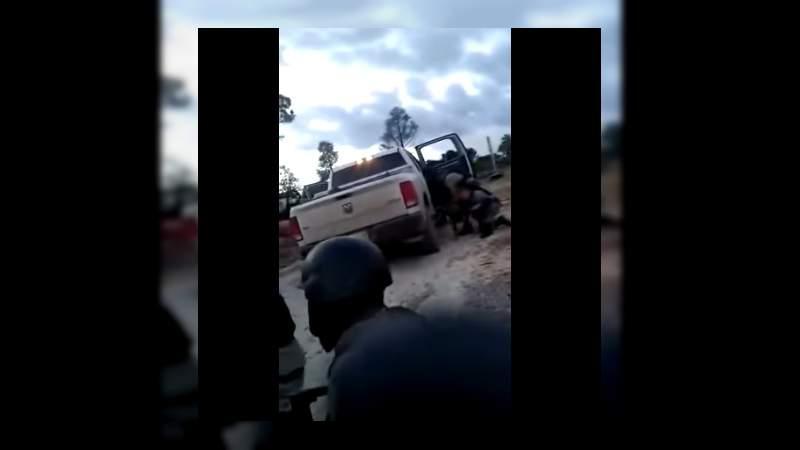 Difunden video la Marina en balacera contra presuntos miembros del CJNG