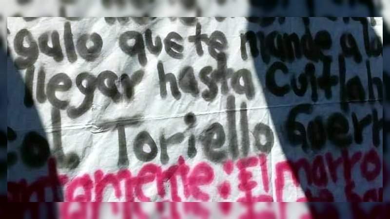 De nueva cuenta amenazan a López Obrador con narcomanta en Guanajuato