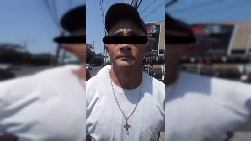 Detienen a presunto ladrón en Morelia, Michoacán