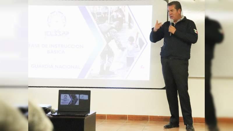 Alista IEESSPP Plan Estratégico para Capacitación de la Guardia Nacional.