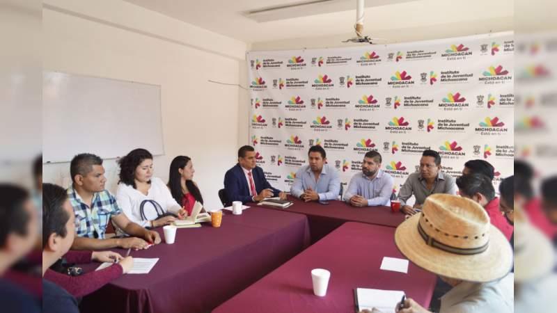 Ijumich y Organizaciones Civiles, en sinergia para vincular trabajo de jóvenes