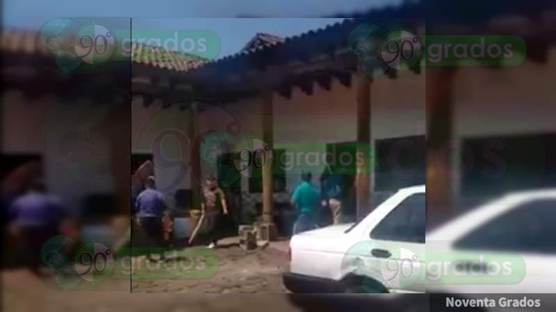 Disturbios en Nahuatzen tras el asesinato del Presidente Municipal