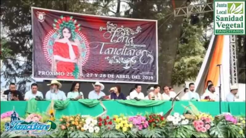 Concluye este domingo la Feria del Aguacate en Tancítaro