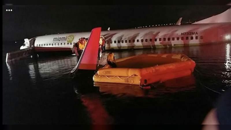 Avión con 136 pasajeros cae a las profundidades de un río en Florida