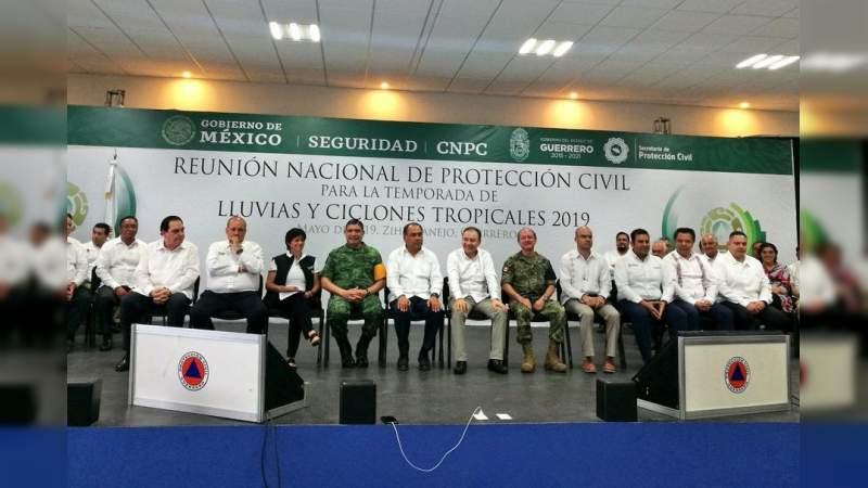 Participa Michoacán en Reunión Nacional de Protección Civil para la Temporada de Lluvias y Ciclones Tropicales