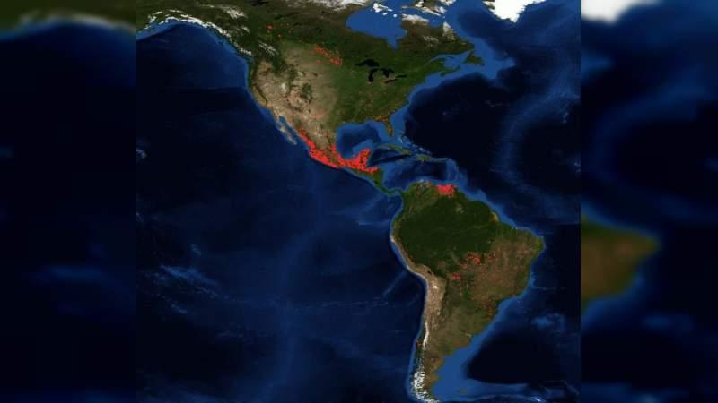 México, con la mayor cantidad de incendios en América este martes
