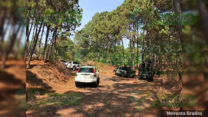 10 muertos y cuatro heridos deja enfrentamiento en Arroyo Colorado en Uruapan, Michoacán
