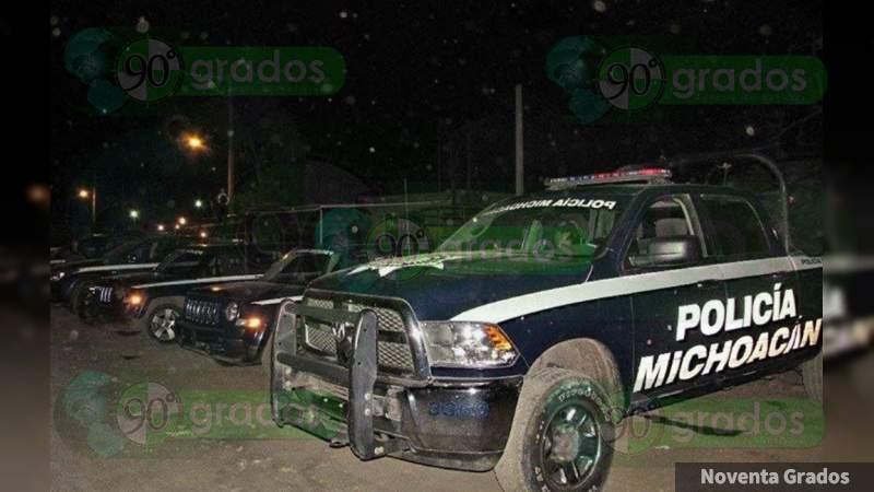 Se registran balazos en calles de Apatzingán, Michoacán