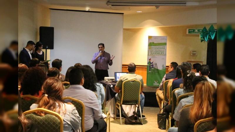 Partido Verde promueve participación política de los jóvenes michoacanos