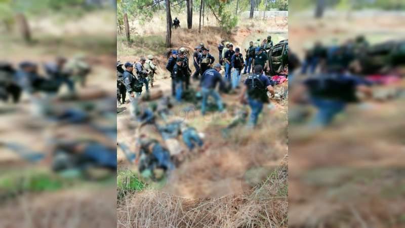 Tras matanza en Uruapan, gobierno federal reporta solo 2 asesinatos el miércoles en Michoacán