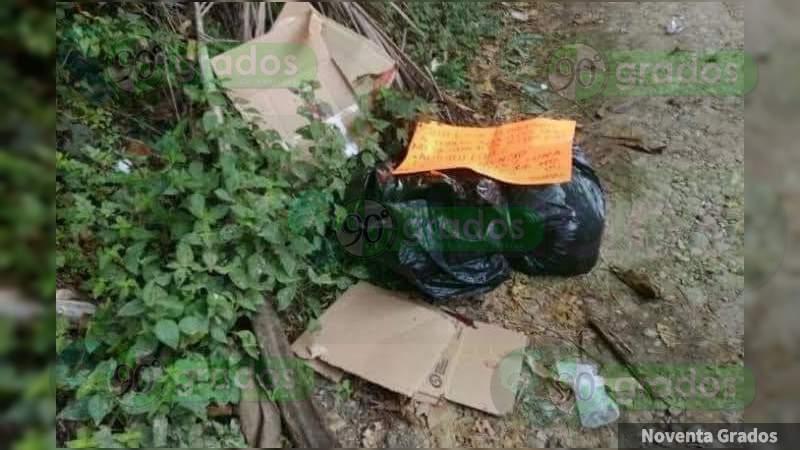 Dejan a tres descuartizados en bolsas en terracería en Chilapa de Álvarez, Guerrero