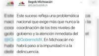 Gobierno de Michoacán exige a federación lo que él no ha podido hacer: garantizar seguridad