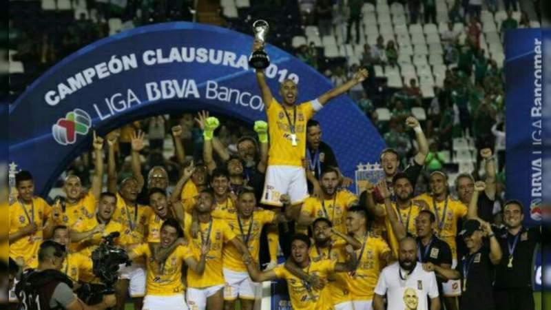 Tigres se convierte en campeón de la Liga MX por séptima ocasión en su historia