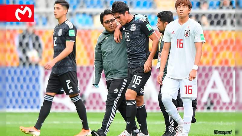 Roberto Meraz sufre fractura total de ligamento y es baja del Tricolor