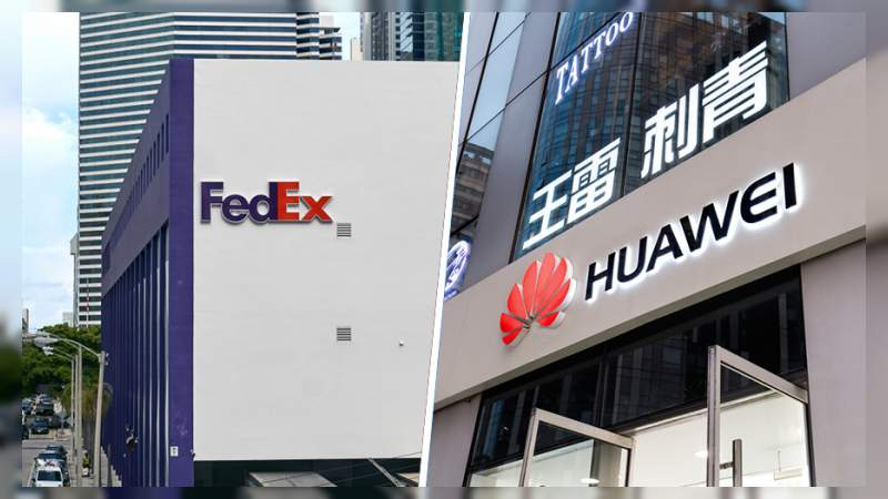 FedEx desvío nuestros paquetes a EE. UU. sin autorización: Huawei