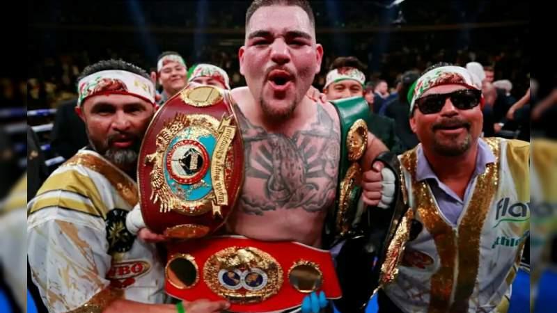 Andy Ruiz se convierte en el primer mexicano en conquistar el campeonato mundial de peso completo