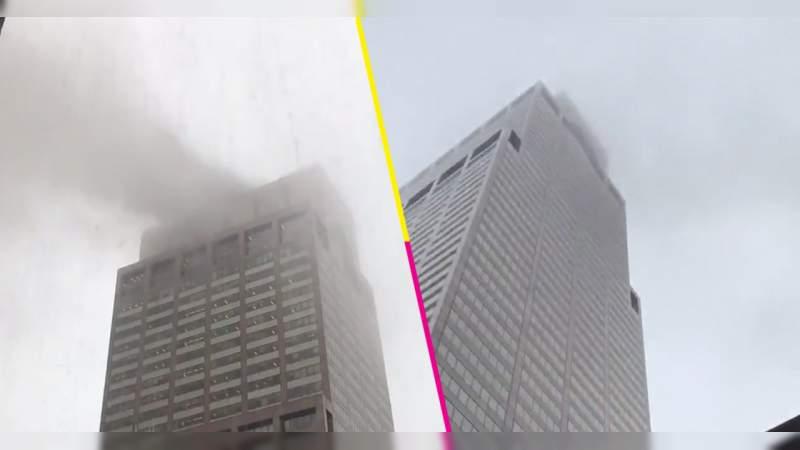 Helicóptero se estrella contra rascacielos en NY, murió el piloto