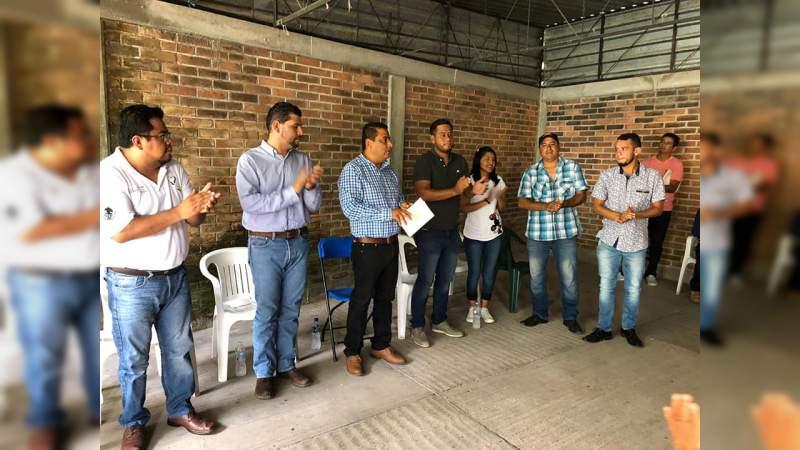 De manera unánime designan a Donaldo Ortiz, presidente del Comité Municipal del PRD en Susupuato