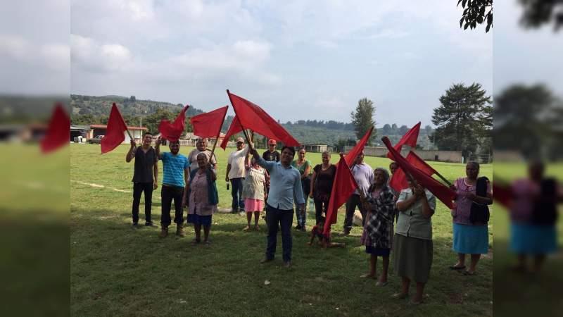 Antorchistas dan banderazo de arranque a la construcción de cocina comunitaria en Rancho Nuevo