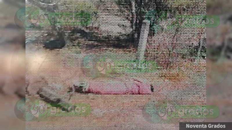 Localizan cadáver encobijado y amarrado en poblado de Zamora, Michoacán