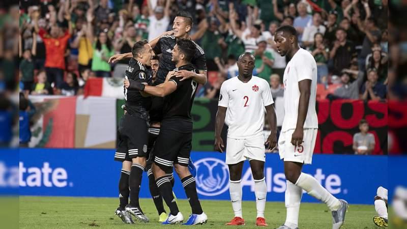 México venció 3-1 a Canadá y se acerca a los Cuartos de Final en Copa Oro