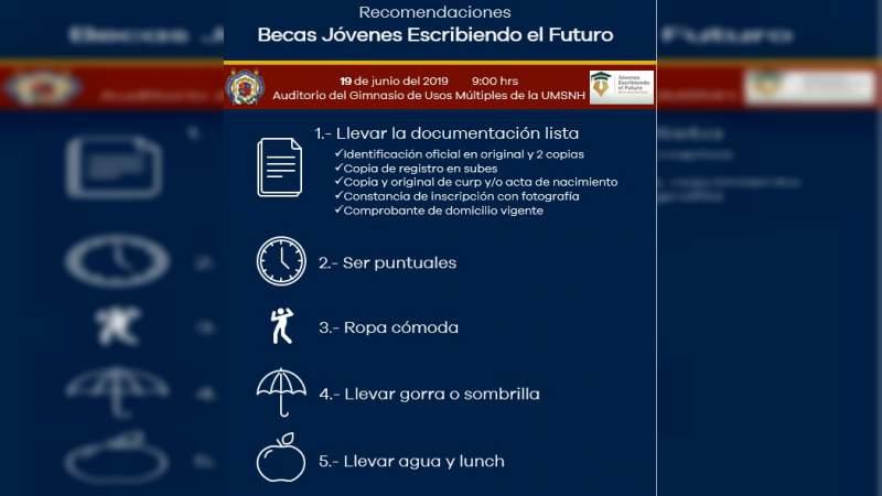 """Pospondrán entrega de becas """"Jóvenes escribiendo el futuro"""" anunciadas para el 20 de junio"""