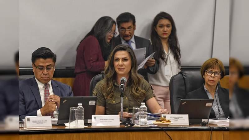 Ana Guevara compareció ante la Cámara de Diputados