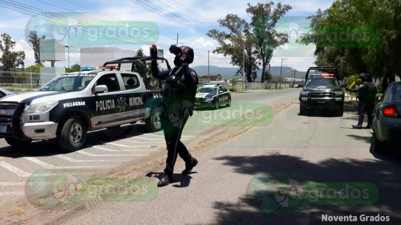 Balean a policías y matan a uno en Villagrán, Guanajuato