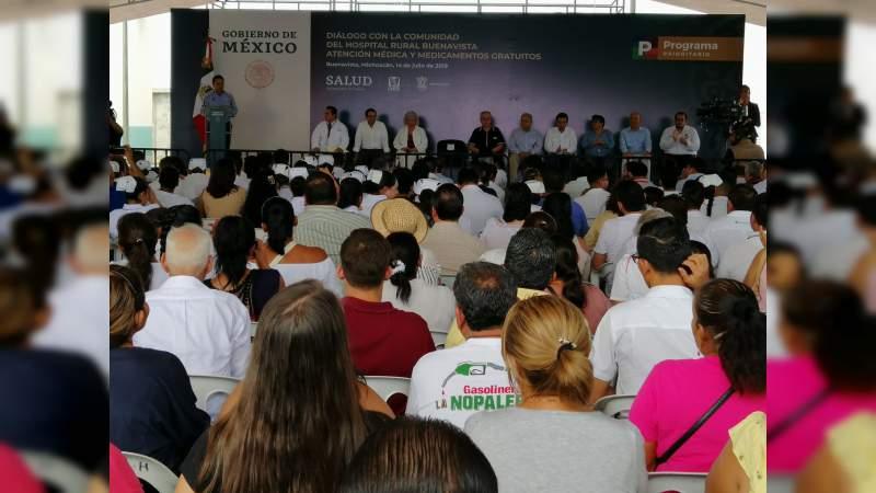 En Buenavista, AMLO reitera que habrá atención y medicamentos gratuitos para todos