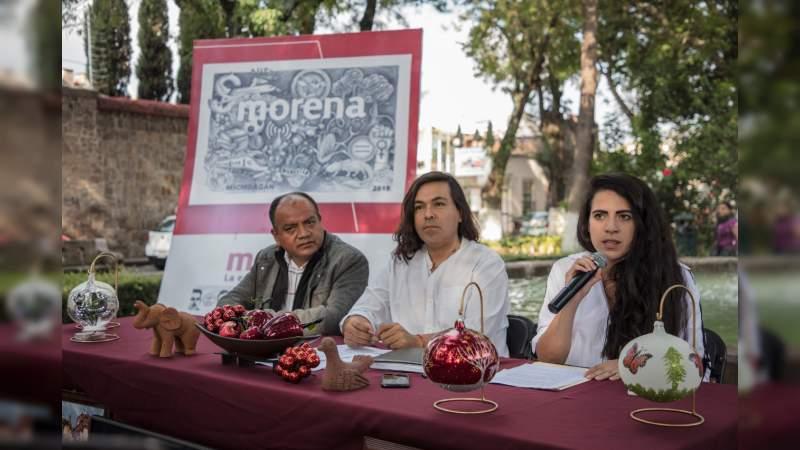 """Ex funcionaria Silvanista, Giulianna Bugarini se suma a Morena; """"por el momento no hay afiliaciones"""", le recordó dirigente"""