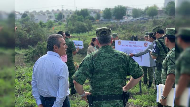 En Villas del Pedregal estará el cuartel de la Guardia Nacional de Morelia