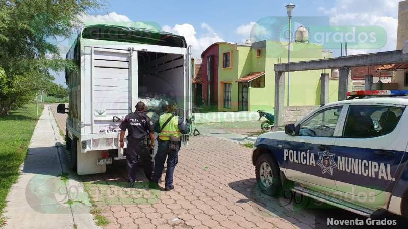 Autoridades recuperan una camioneta robada en Zamora