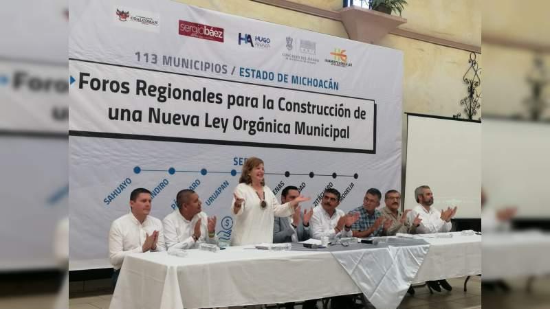 Se realiza el 5to Foro para la Construcción de una Nueva Ley Orgánica Municipal
