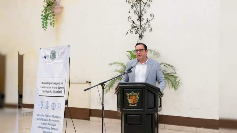 Avanza propuesta de Nueva Ley Orgánica Municipal: Hugo Anaya
