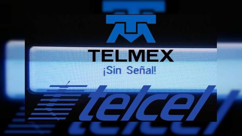Telcel y Telmex se caen a nivel nacional