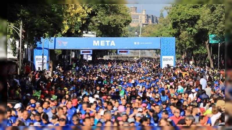 Un hombre muere durante la media maratón de la CDMX